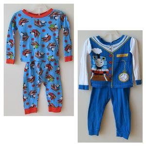 Thomas & Friends 2 Pajama Sets for Baby Boy Bundle
